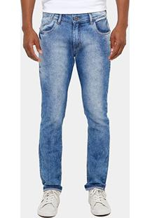 Calça Jeans Skinny Preston Marmorizada Masculina - Masculino