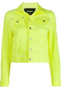 Dsquared2 Cropped Denim Jacket - Amarelo