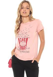 Camiseta Lez A Lez Palomitas Rosa