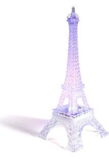 Enfeite Decoração Torre Eiffel Iluminada Led Thata Esportes Abajur Luminária 12 Cm