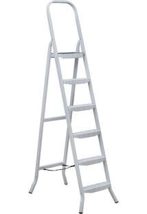 Escada De Ferro Maestro Premium, 6 Degraus, Branca - 04806