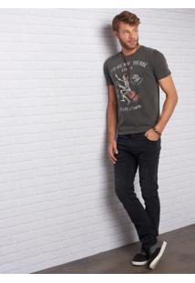 Calça John John Slim Pienza 3D Jeans Preto Masculina (Jeans Black, 48)