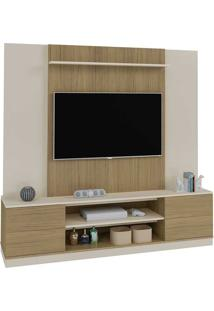 Estante Para Tv De 47'' Polegadas Com 2 Portas Champion- Artely - Off White / Carvalho