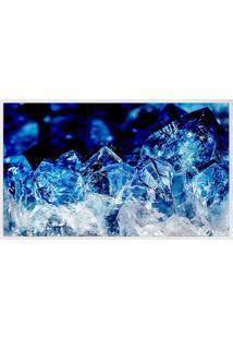 Quadro Decorativo Cristal- Branco & Azul Escuro- 80Xarte Prã³Pria