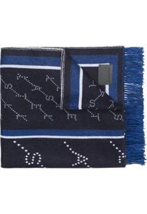 Stella Mccartney Cobertor Monogramado - Azul