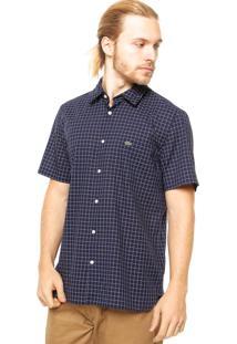 Camisa Manga Curta Lacoste Fashion Azul