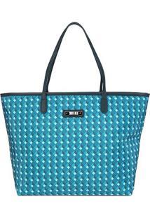 Bolsa Santa Lolla Shopper Nylon Cubos Feminina - Feminino-Azul