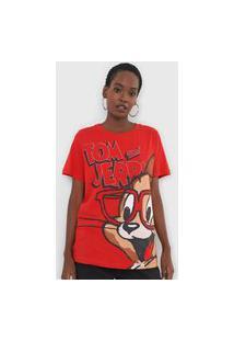 Camiseta My Favorite Thing(S) Tom And Jerry Vermelha