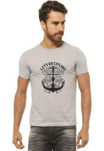 Camiseta Joss - Lets Go - Masculina - Masculino-Mescla