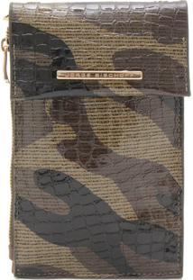 Clutch Couro Jorge Bischoff Textura Marrom/Bege