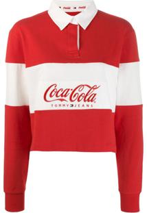 Tommy Jeans Camisa Polo 'Tommy Jeans X Coca Cola' - Vermelho