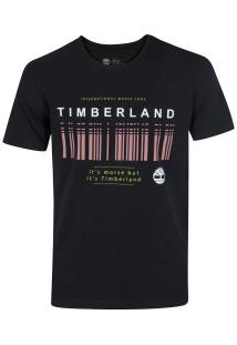 Camiseta Timberland Morse Code - Masculina - Preto