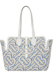 Burberry Medium Monogram-Pattern Tote Bag - Neutro