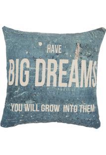Capa De Almofada Atelier Valverde Linho Big Dreams 42Cmx42Cm Azul