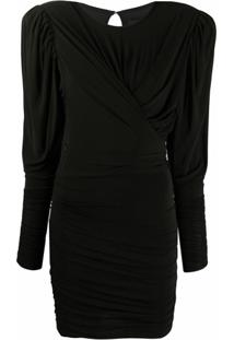 Isabel Marant Vestido Slim Com Drapeado - Preto