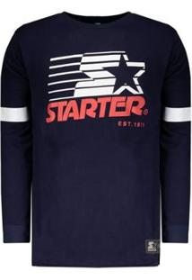 Camiseta Starter Star Manga Longa Masculina - Masculino