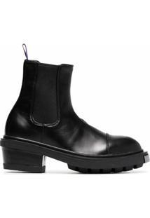 Eytys Ankle Boot 'Nikita' De Couro - Preto