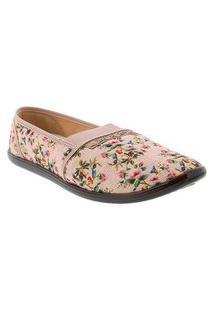 Alpargata Moleca Floral Tecido Rosa 52059