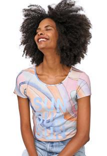 Camiseta Lez A Lez Bondi Azul/Laranja