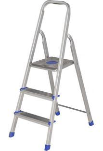 Escada 3 Degraus Aluminio 61 Cm