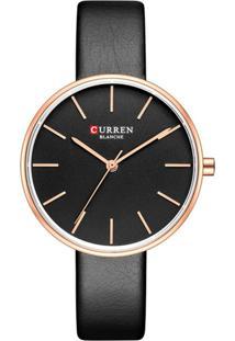 Relógio Curren Analógico C9042L Rosê E Preto