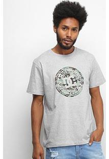Camiseta Dc Shoes Basic Circle Print Masculina - Masculino-Preto+Amarelo