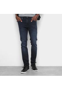 Calça Jeans Cavalera Jamie Super Skinny Masculina - Masculino-Azul