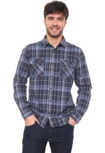 Camisa Malwee Reta Xadrez Azul