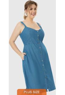 Vestido Azul Midi Jeans Wee!