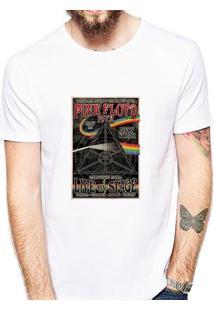 Camiseta Coolest Pink Floyd Masculina - Masculino-Branco