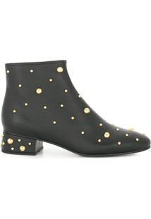 See By Chloé Ankle Boot 'Jarvis' De Couro - Preto