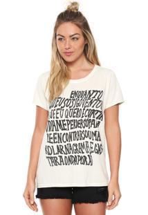 Camiseta Redley Text Bege