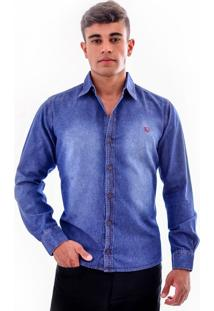 Camisa Amil Spring Jeans Lisa Azul Escuro