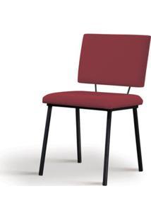 Cadeira Preciosa Marsala Base Preta - 55855 - Sun House