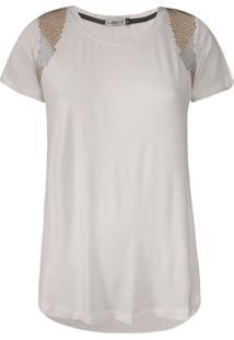 Camiseta Khelf Com Termocolantes Off White