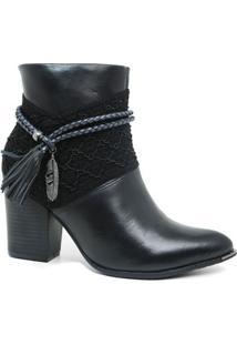 Bota Ramarim 17-16102 Ankle Boot Feminina Preta