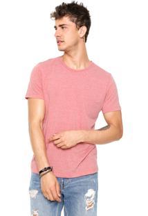 Camiseta Colcci Slim Coral