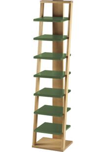 Prateleira Stairway Máxima Cor Palha E Verde Musgo