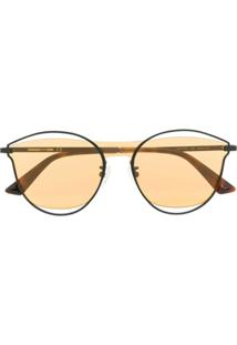 Mcq Swallow Cat Eye Frame Sunglasses - Preto