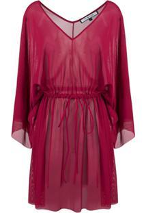 Fisico Drawstring Waist Dress - Vermelho