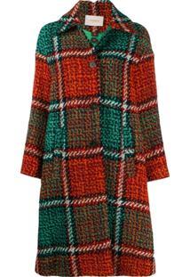 La Doublej Checked Coat - Verde