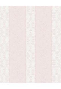 Papel De Parede Arabescos- Rosa & Bege Claro- 1000X5Shark Metais