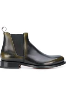Santoni Ankle Boot Slip On - Preto