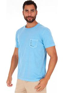 Camiseta Side Walk Camiseta Aurea Azul