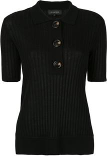 Lee Mathews Blusa Polo Canelada - Preto
