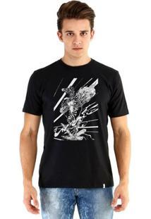Camiseta Ouroboros Manga Curta Zebra - Masculino-Preto