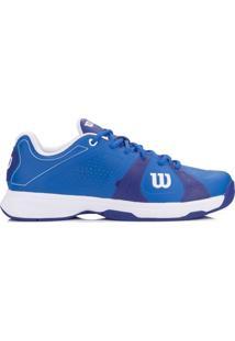 Tênis Wilson Rush Sport Azul E Branco-44 - Masculino