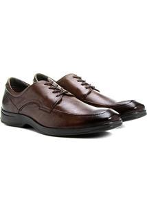 Sapato Conforto Couro Democrata Casual - Masculino-Marrom