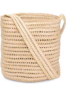 Bolsa Basket Palha Osklen - Bege