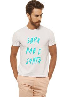 Camiseta Joss - Sopa Para Cinza - Masculina - Masculino-Branco